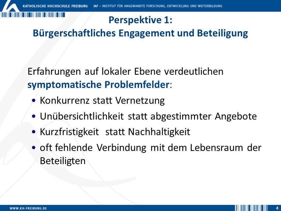 Perspektive 1: Bürgerschaftliches Engagement und Beteiligung