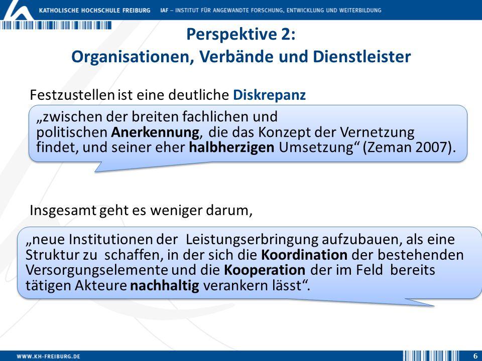 Perspektive 2: Organisationen, Verbände und Dienstleister