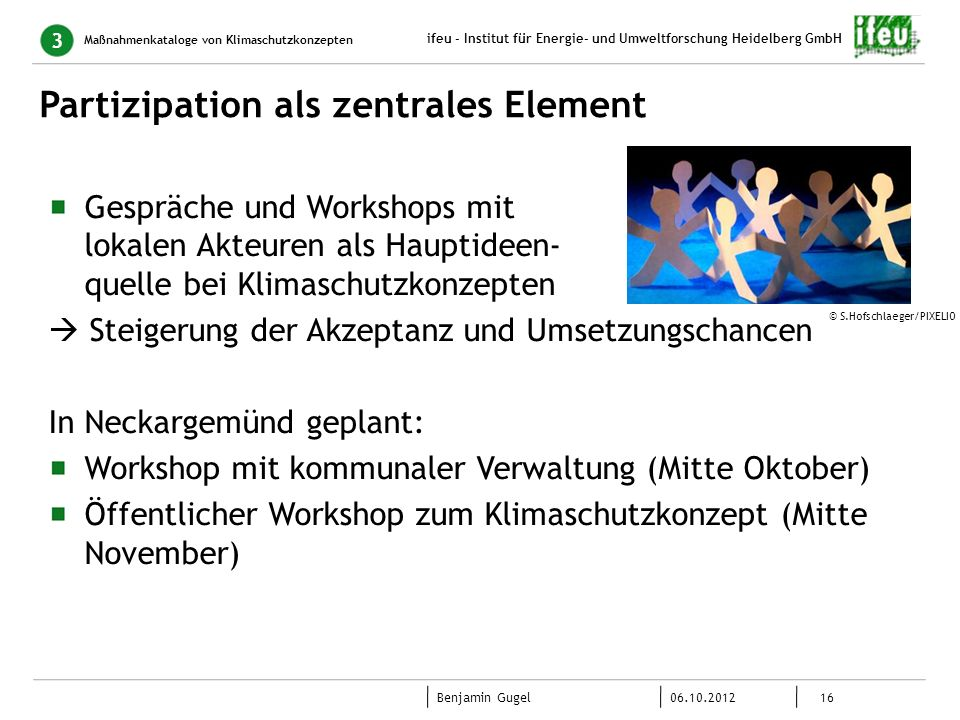 Partizipation als zentrales Element