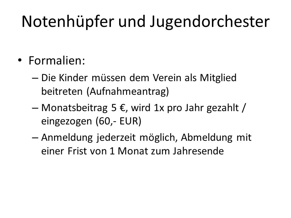 Notenhüpfer und Jugendorchester