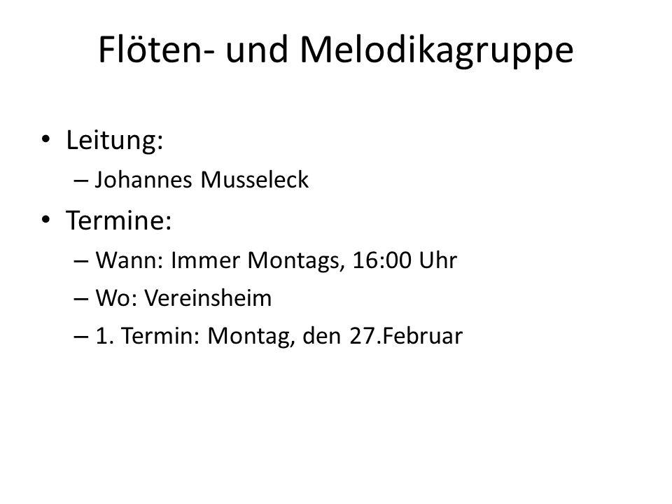 Flöten- und Melodikagruppe