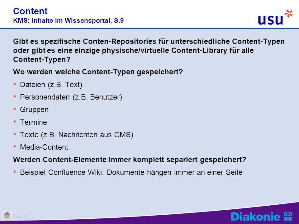 Content KMS: Inhalte im Wissensportal, S.9