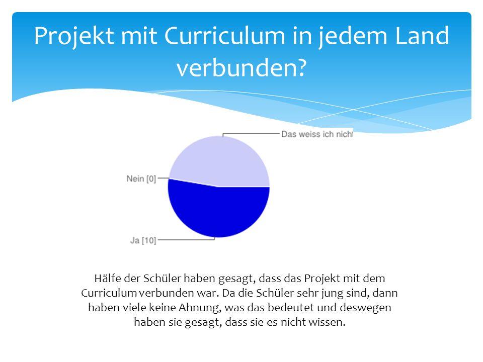 Projekt mit Curriculum in jedem Land verbunden