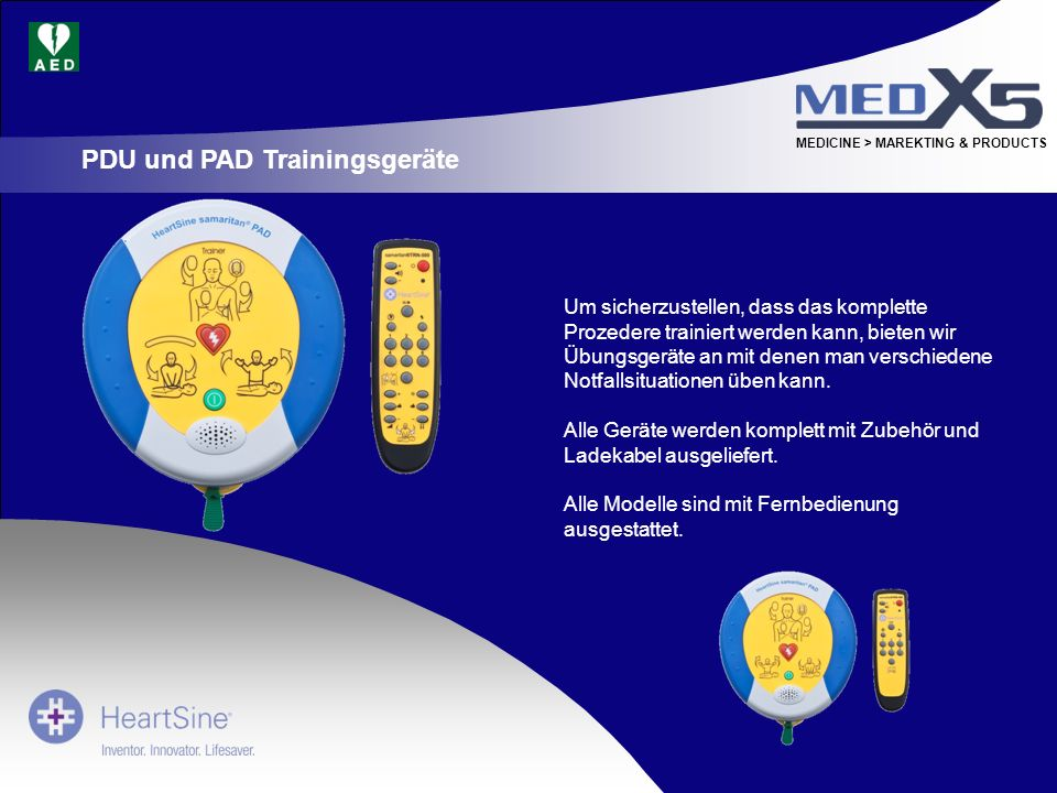 PDU und PAD Trainingsgeräte