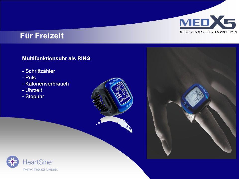 Für Freizeit Multifunktionsuhr als RING Schrittzähler Puls