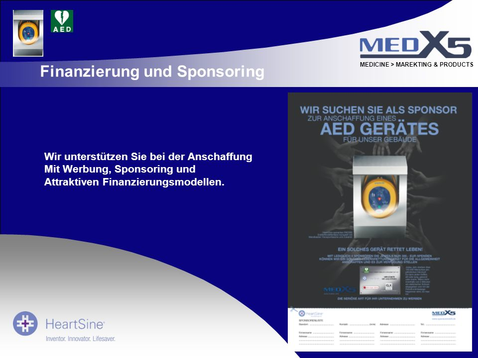 Finanzierung und Sponsoring