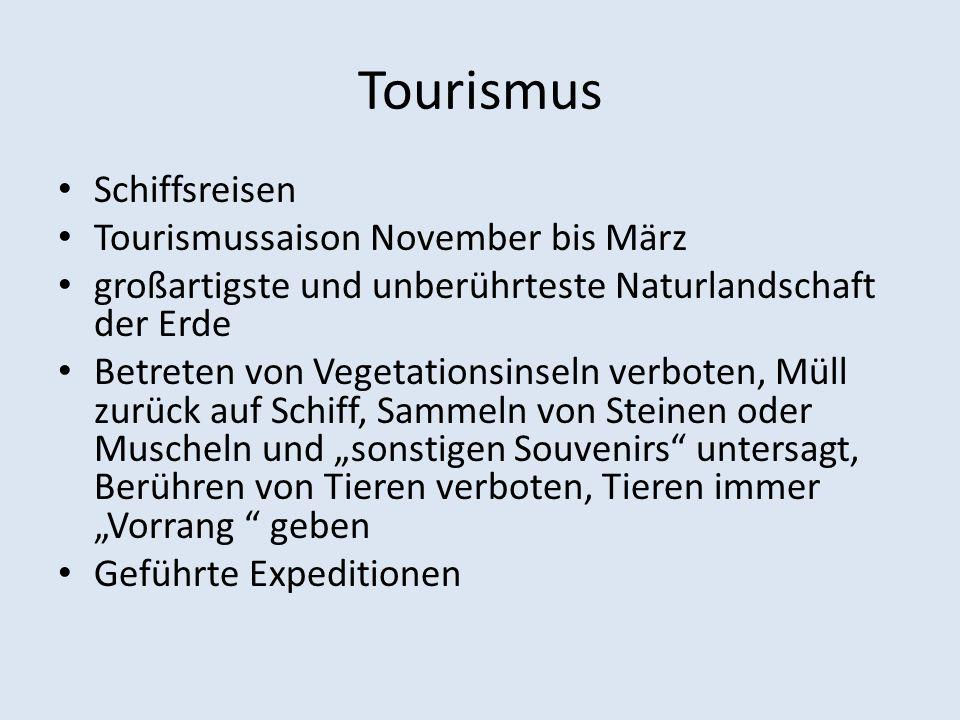 Tourismus Schiffsreisen Tourismussaison November bis März