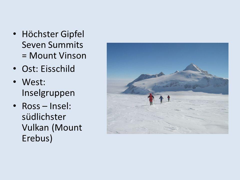 Höchster Gipfel Seven Summits = Mount Vinson
