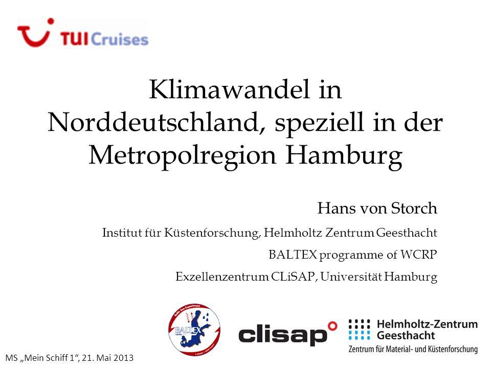 Klimawandel in Norddeutschland, speziell in der Metropolregion Hamburg