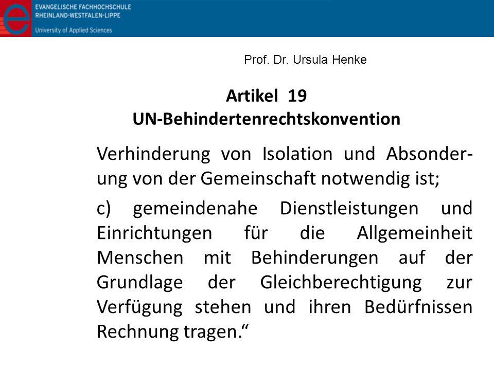 Artikel 19 UN-Behindertenrechtskonvention