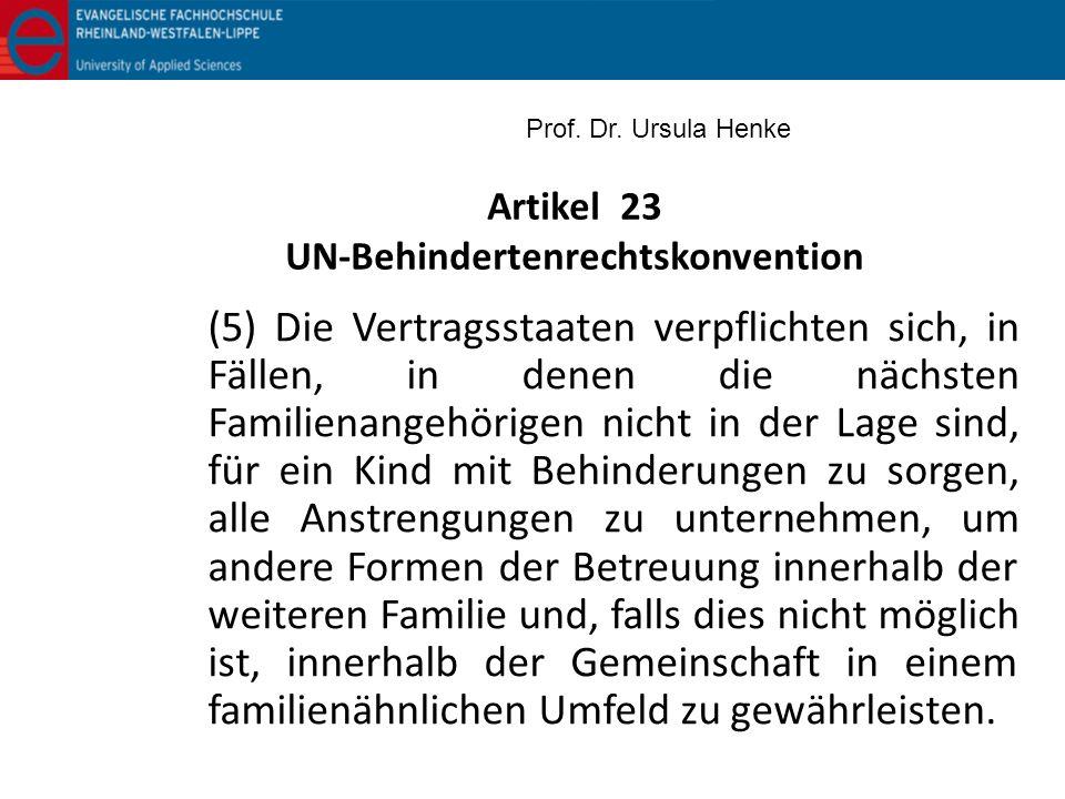 Artikel 23 UN-Behindertenrechtskonvention