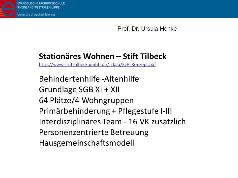 Stationäres Wohnen – Stift Tilbeck Behindertenhilfe -Altenhilfe