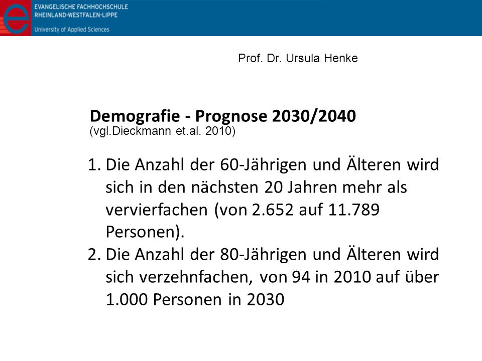 Demografie - Prognose 2030/2040
