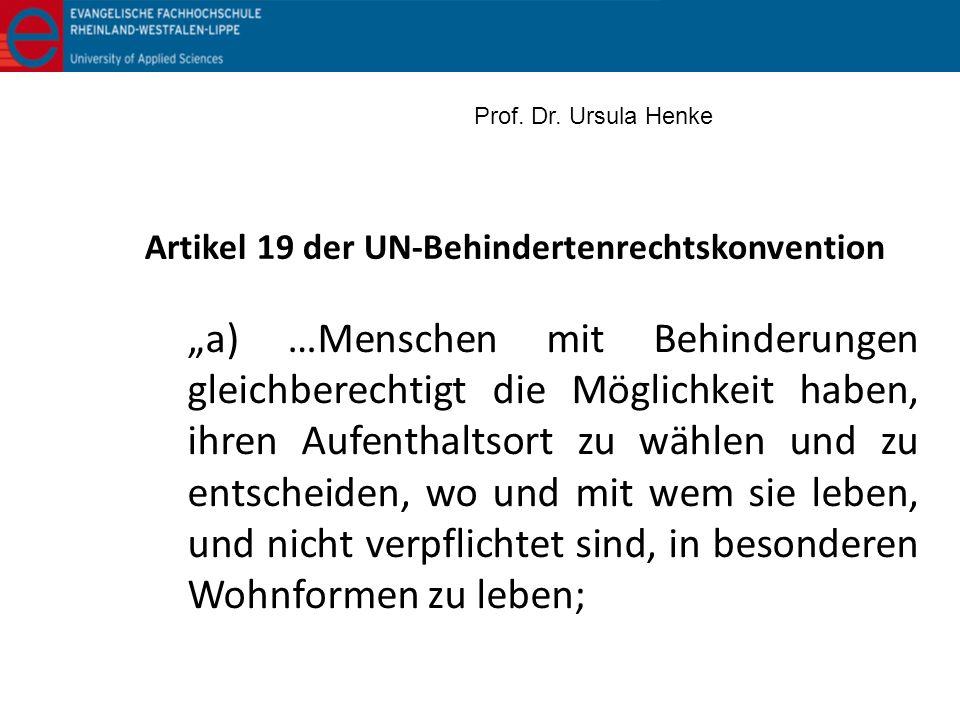 Artikel 19 der UN-Behindertenrechtskonvention