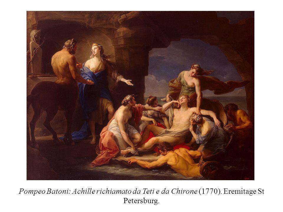 Pompeo Batoni: Achille richiamato da Teti e da Chirone (1770)