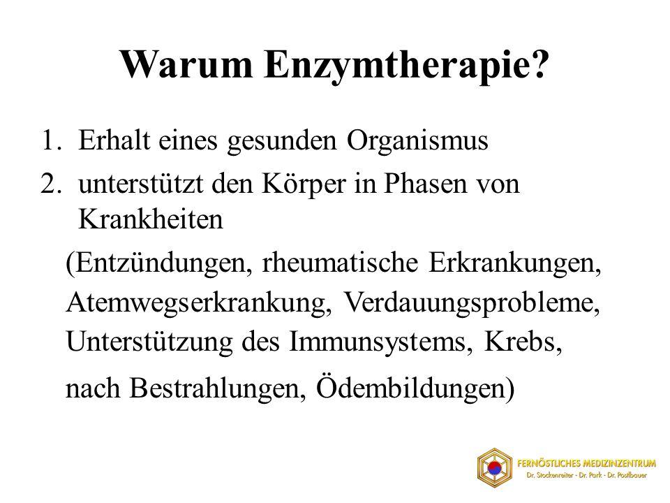 Warum Enzymtherapie Erhalt eines gesunden Organismus