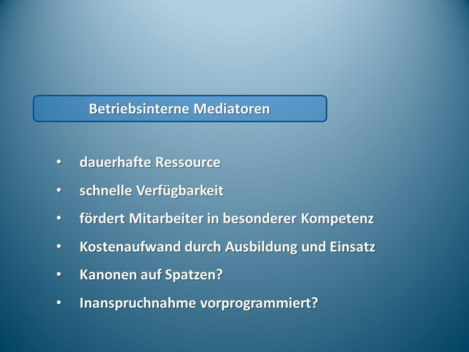 Betriebsinterne Mediatoren