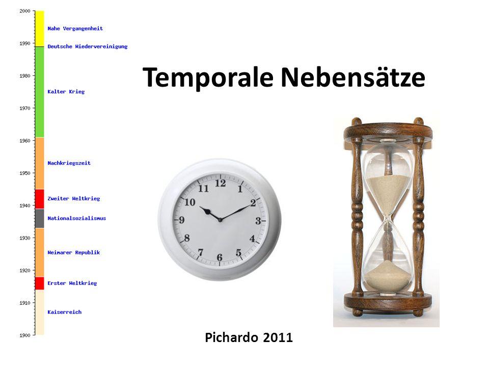 Temporale Nebensätze Pichardo 2011