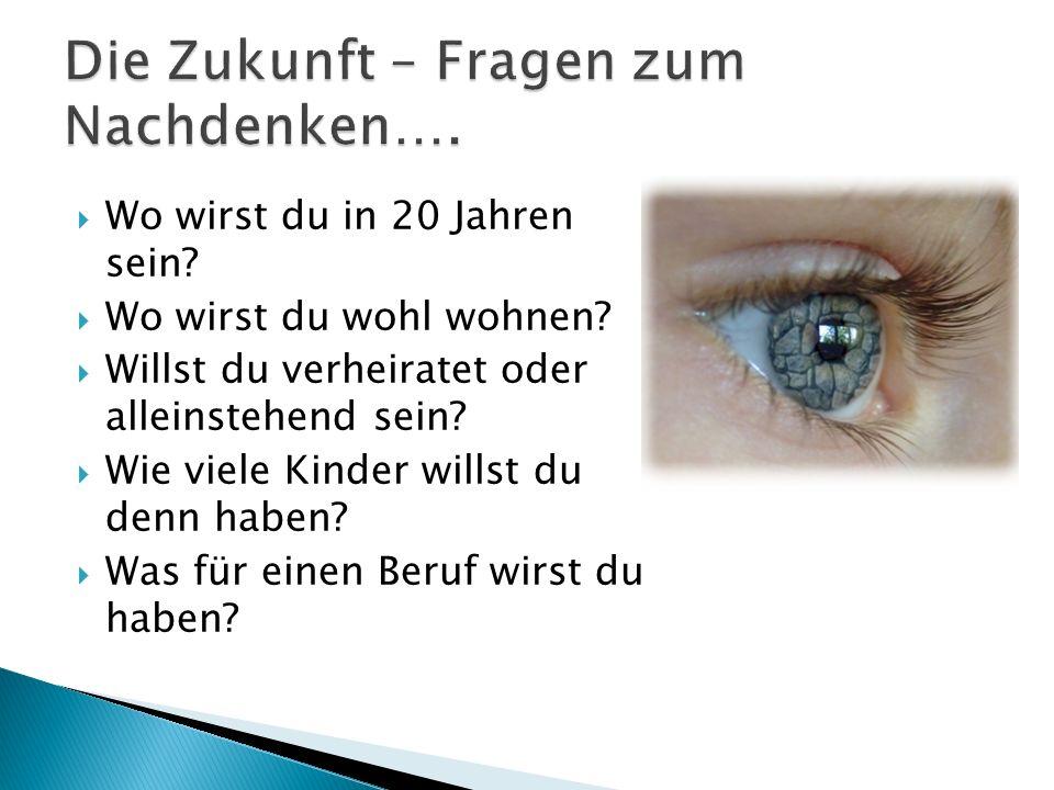 Die Zukunft – Fragen zum Nachdenken….