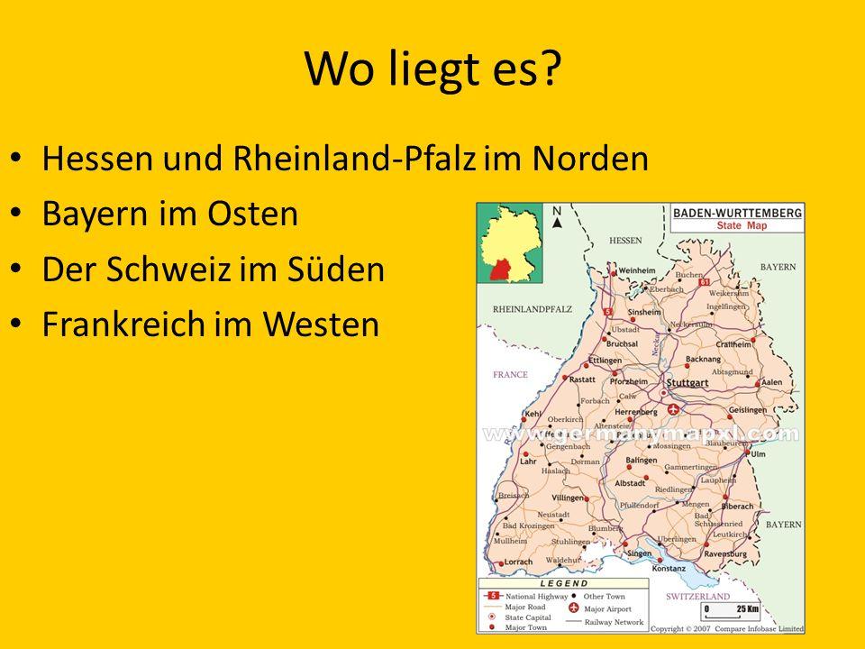 Wo liegt es Hessen und Rheinland-Pfalz im Norden Bayern im Osten