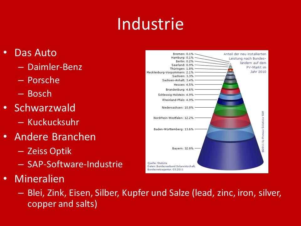 Industrie Das Auto Schwarzwald Andere Branchen Mineralien Daimler-Benz
