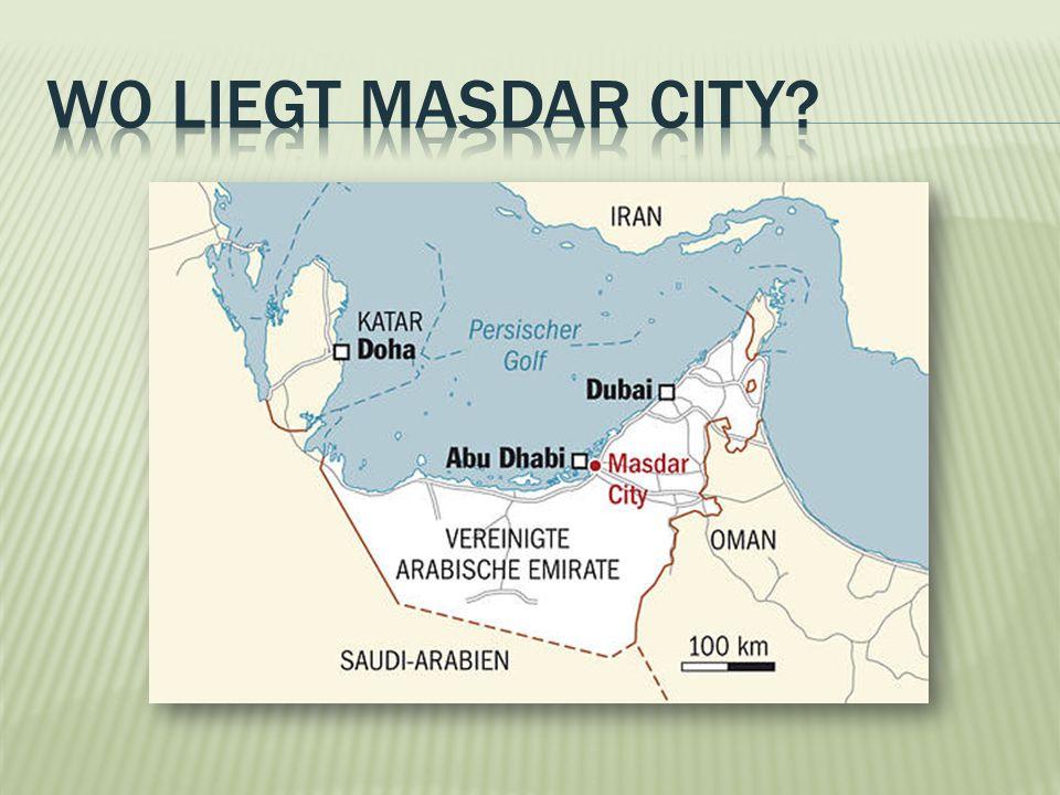 Wo liegt masdar city