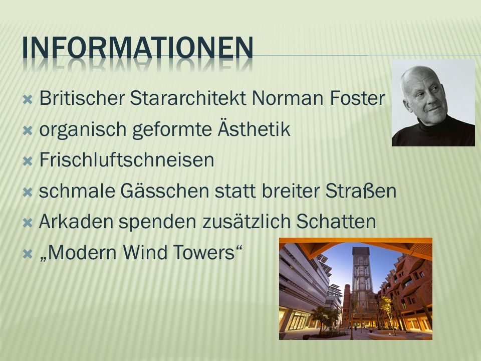 InfoRMatIonen Britischer Stararchitekt Norman Foster