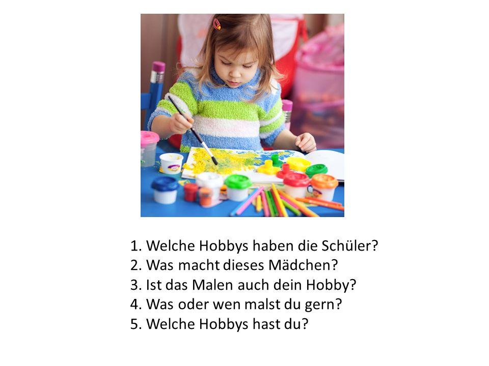 1. Welche Hobbys haben die Schüler