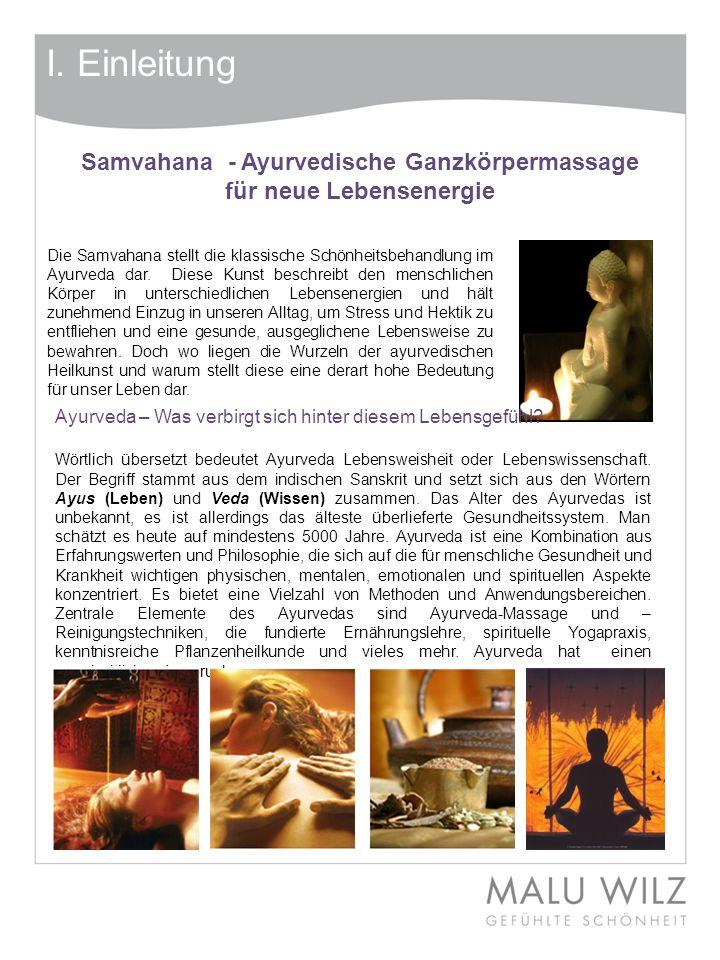 Samvahana - Ayurvedische Ganzkörpermassage für neue Lebensenergie