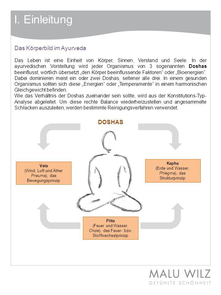 I. Einleitung Das Körperbild im Ayurveda DOSHAS