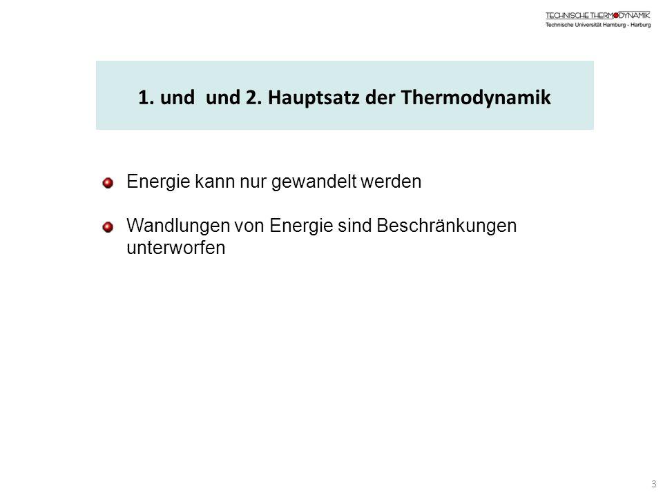 1. und und 2. Hauptsatz der Thermodynamik