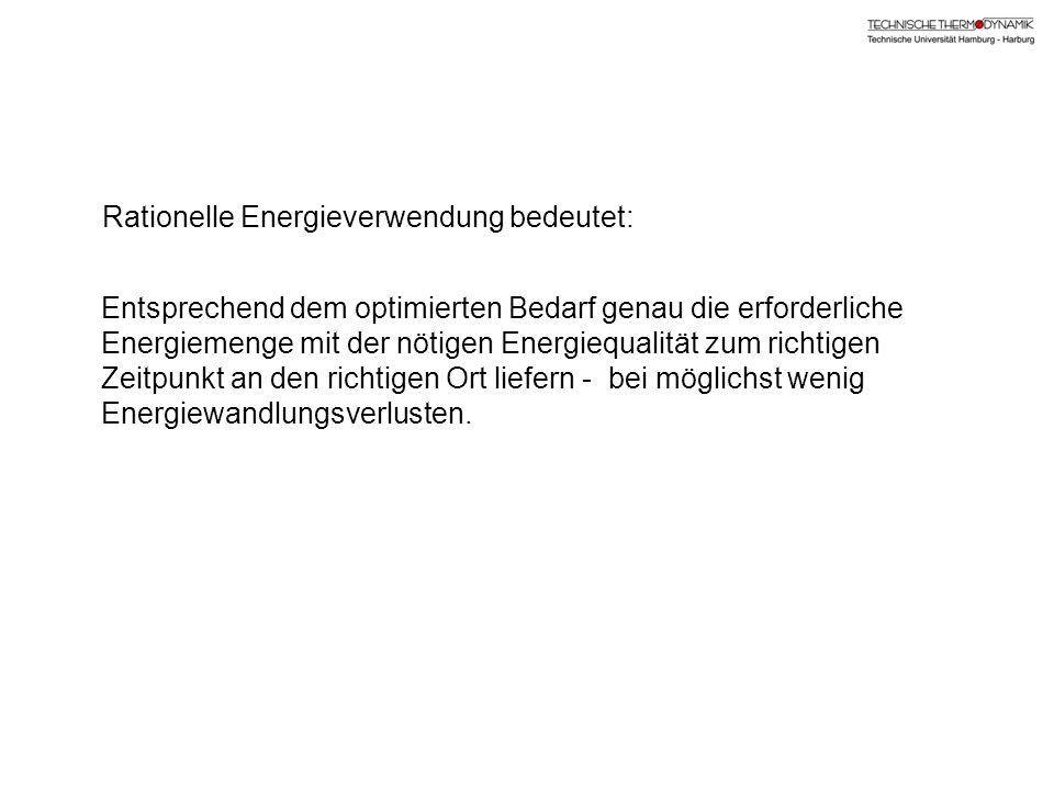 Rationelle Energieverwendung bedeutet: