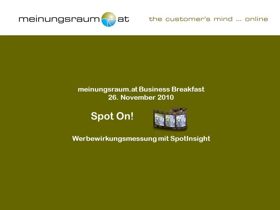 Werbewirkungsmessung mit SpotInsight