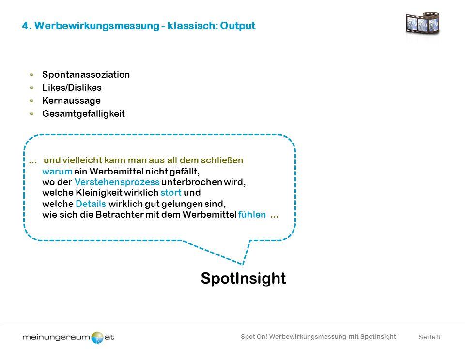4. Werbewirkungsmessung - klassisch: Output
