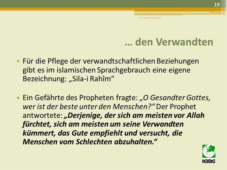 Der Koran- TOM 2010 … den Verwandten.