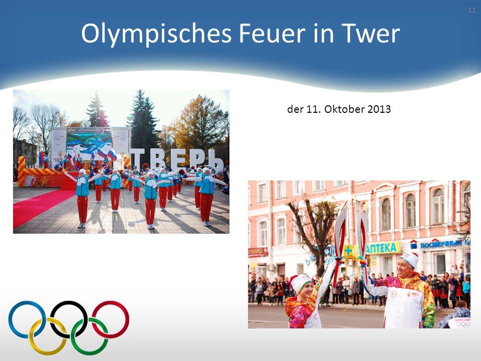 Olympisches Feuer in Twer