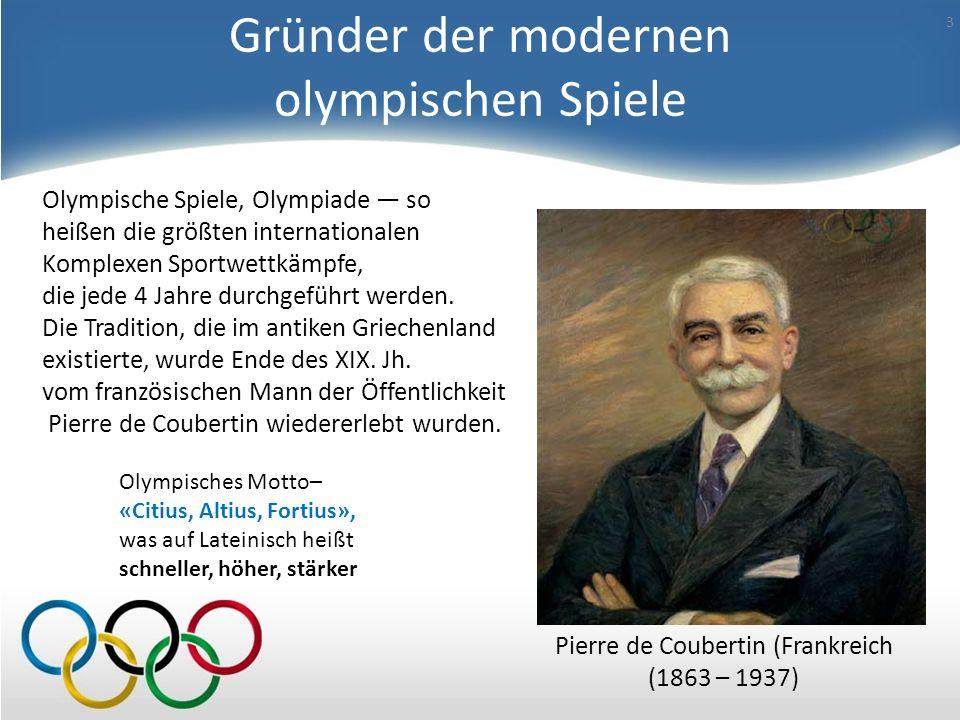 Gründer der modernen olympischen Spiele