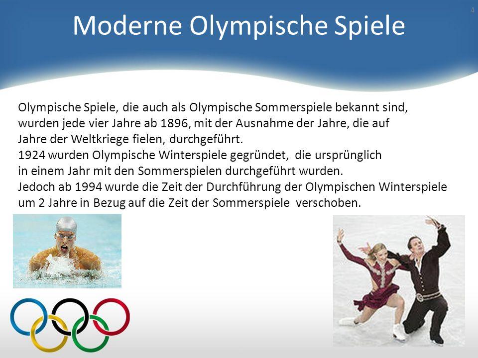 Moderne Olympische Spiele