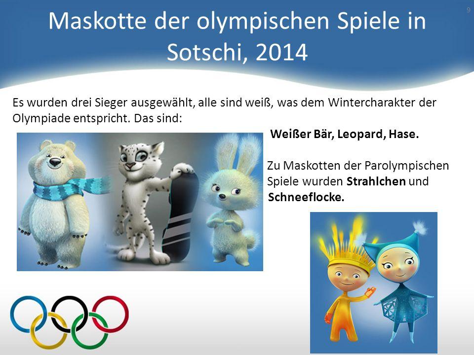 Maskotte der olympischen Spiele in Sotschi, 2014
