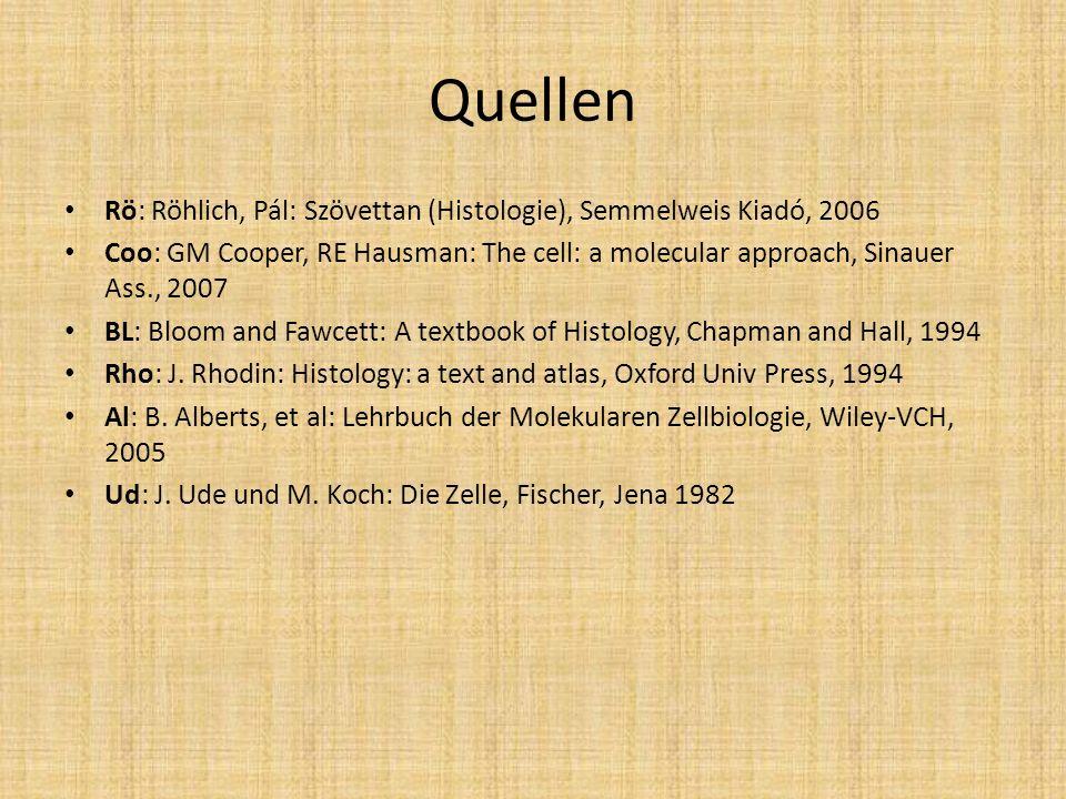 Quellen Rö: Röhlich, Pál: Szövettan (Histologie), Semmelweis Kiadó, 2006.