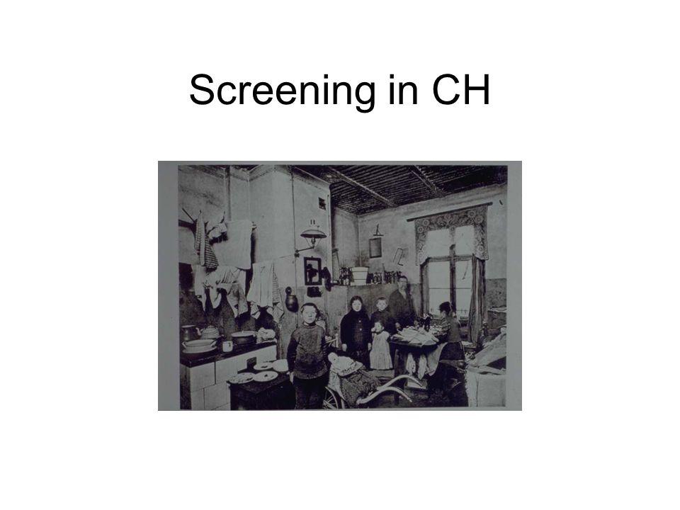 Screening in CH Screenen ist nur sinnvoll bei Leuten mit erhöhtem Risiko an TB zu erkranken.