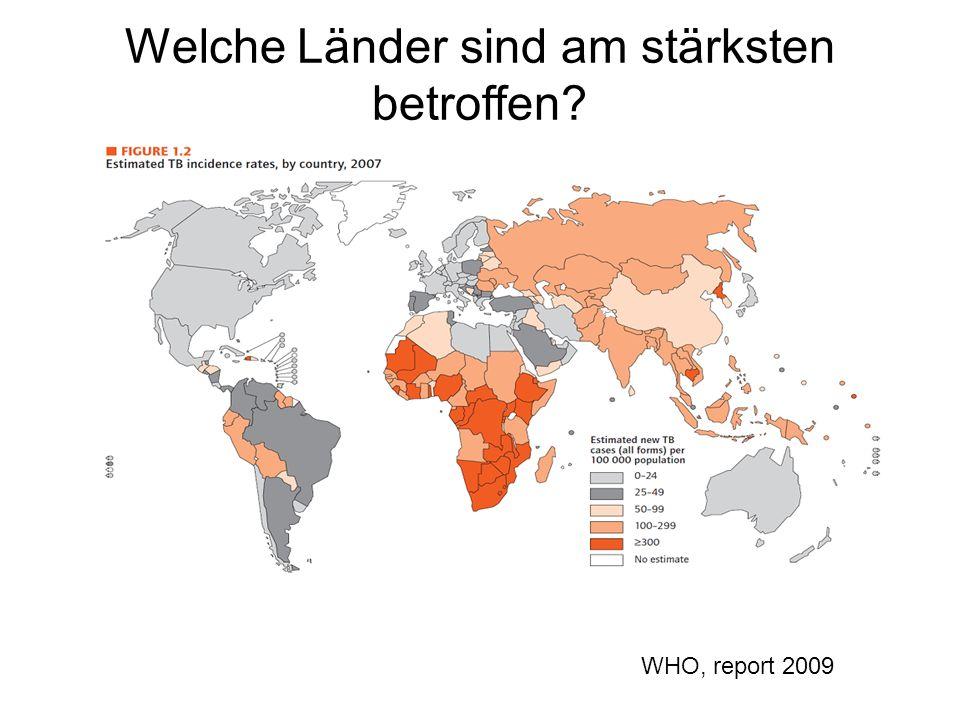Welche Länder sind am stärksten betroffen