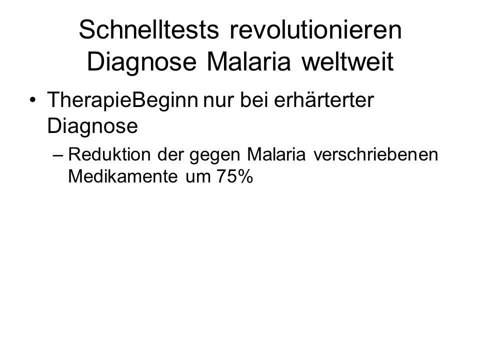 Schnelltests revolutionieren Diagnose Malaria weltweit