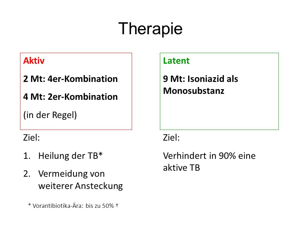 Therapie Aktiv 2 Mt: 4er-Kombination 4 Mt: 2er-Kombination