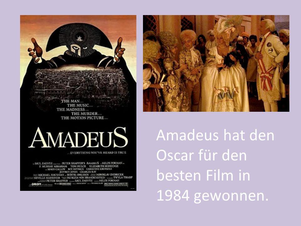 Amadeus hat den Oscar für den besten Film in 1984 gewonnen.