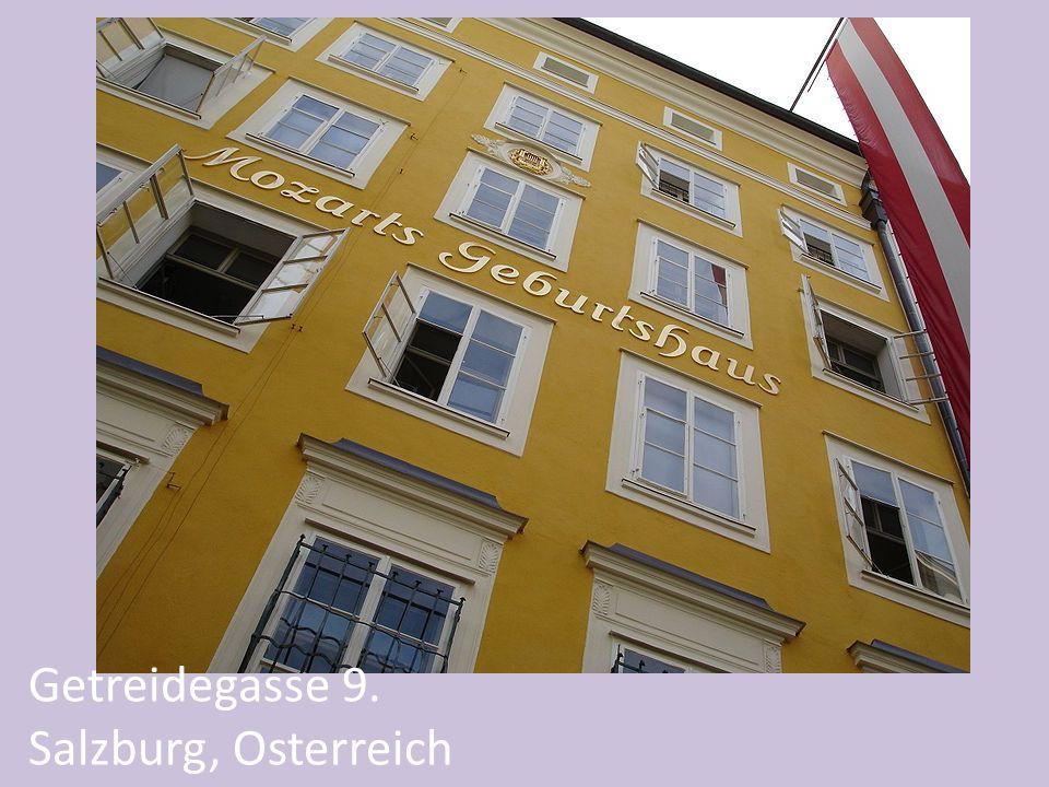 Getreidegasse 9. Salzburg, Osterreich