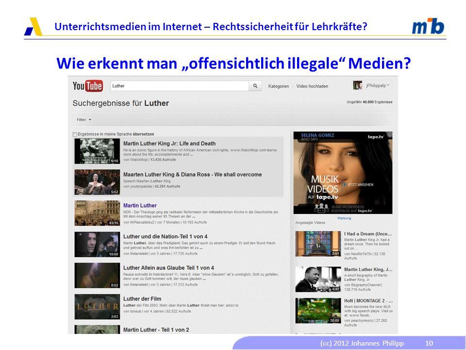 """Wie erkennt man """"offensichtlich illegale Medien"""