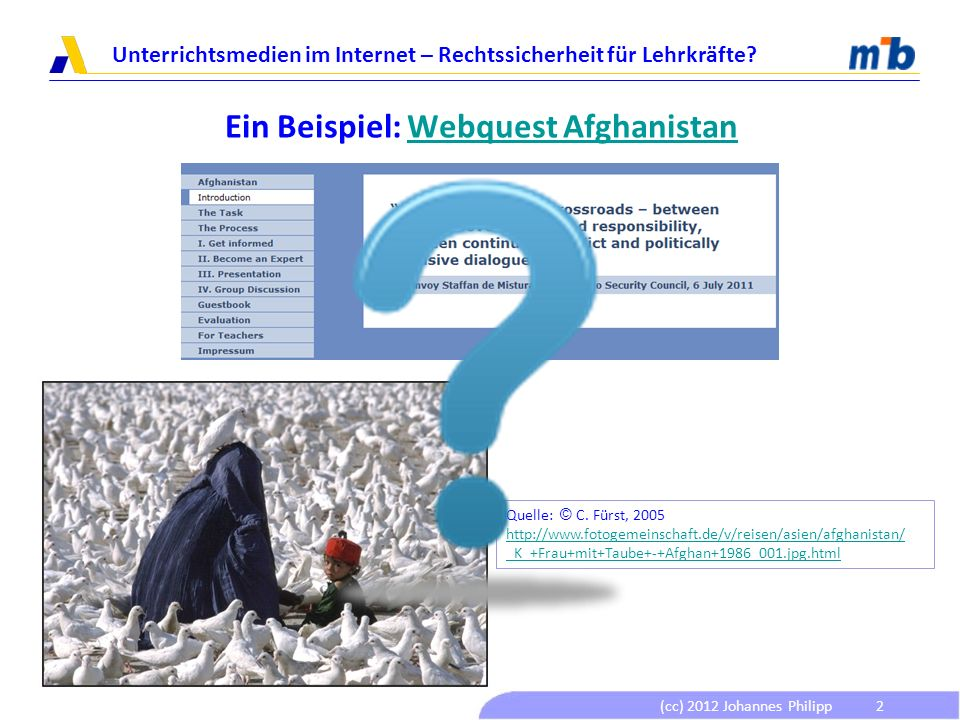 Ein Beispiel: Webquest Afghanistan