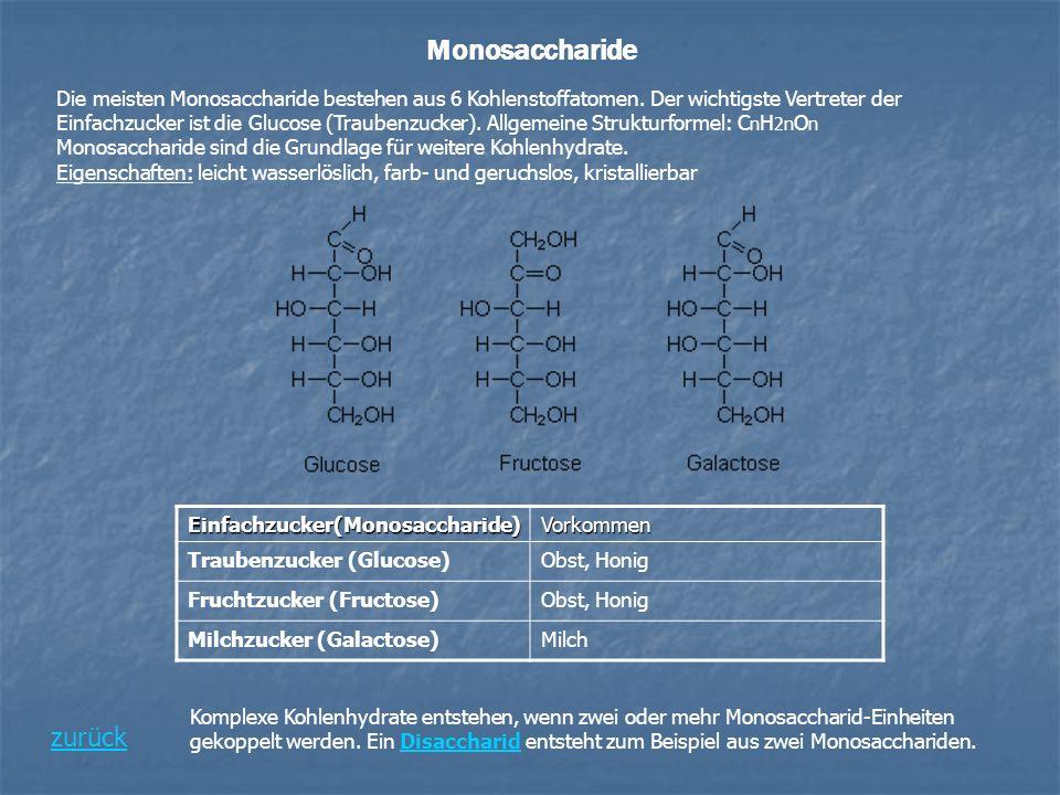 Monosaccharide zurück