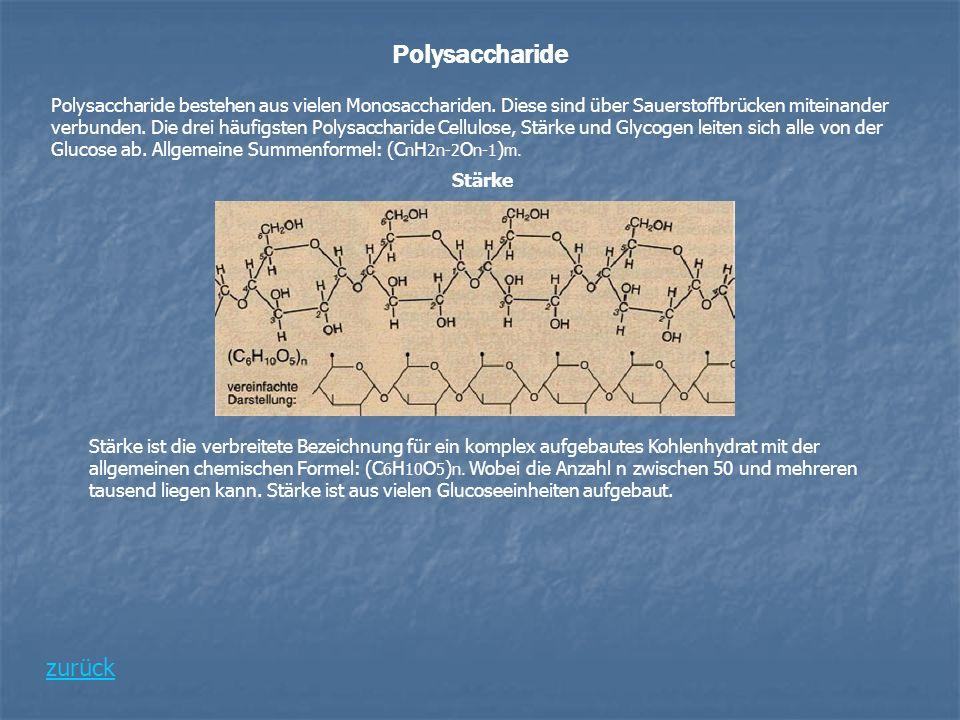 Polysaccharide zurück
